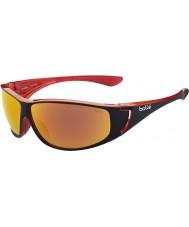 Bolle Highwood parlak siyah, kırmızı polarize tns yangın güneş gözlüğü