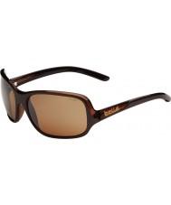 Bolle Kassia parlak çikolata polarize kumtaşı silah güneş gözlüğü