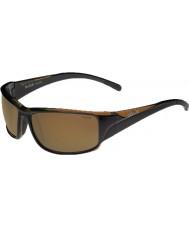 Bolle Keelback parlak kahverengi polarize ag-14 güneş gözlüğü