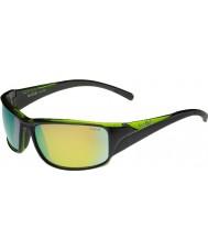 Bolle Keelback parlak siyah, yeşil polarize kahverengi zümrüt güneş gözlüğü