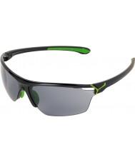 Cebe Cinetik büyük parlak siyah yeşil güneş gözlüğü