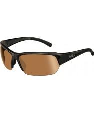 Bolle Ransom parlak siyah modülatör v3 golf güneş gözlüğü
