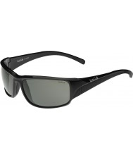 Bolle Keelback parlak siyah polarize güneş gözlüğü tns