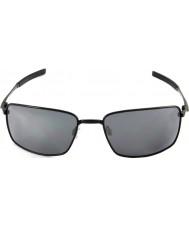 Oakley siyah iridyum güneş gözlüğü - Oo4075-01 kare tel siyah cilalı