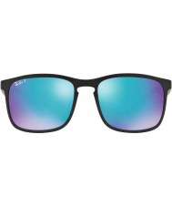 RayBan Rb4264 58 teknoloji chromance mat siyah 601sa1 mavi flaş polarize güneş gözlüğü