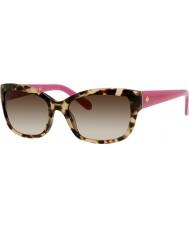Kate Spade New York Bayanlar johanna-s RYP y6 havana pembe güneş gözlüğü