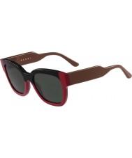 Marni Bayanlar me604s siyah ve kırmızı güneş gözlüğü