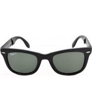 RayBan Rb4105 50 katlama wayfarer siyah 601-58 polarize güneş gözlüğü