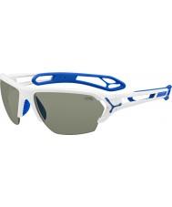 Cebe S-track büyük parlak beyaz güneş gözlüğü