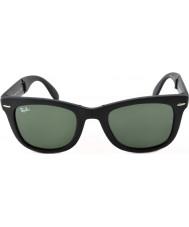 RayBan Rb4105 50 katlama wayfarer mat siyah 601S güneş gözlüğü