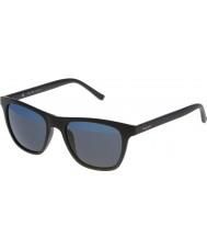 Police Erkek sıcak 1 s1936v-u28b mat siyah, mavi güneş gözlüğü aynalı