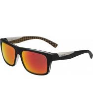 Bolle Clint mat siyah turuncu polarize tns yangın güneş gözlüğü
