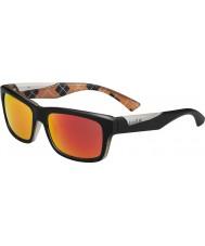 Bolle Jude mat siyah turuncu polarize tns yangın güneş gözlüğü