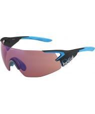 Bolle 5 eleman yanlısı mat karbon mavisi gül-mavi güneş gözlüğü