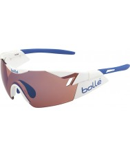 Bolle 6 anlamda parlak beyaz, mavi güneş gözlüğü gül