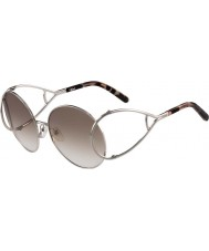 Chloe Bayanlar ce124s gümüş ve kahverengi güneş gözlüğü