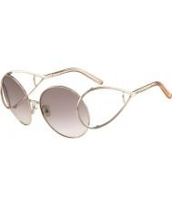 Chloe Bayanlar ce124s altın ve şeftali güneş gözlüğü