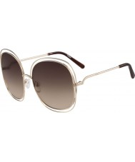 Chloe Bayanlar ce126s altın ve kahverengi güneş gözlüğü gül