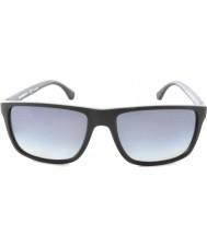Emporio Armani Ea4033 56 Modern siyah gri kauçuk 5229t3 polarize güneş gözlüğü