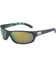 Bolle Anaconda mat mavi, yeşil, kahverengi zümrüt güneş gözlüğü polarize