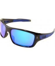 Oakley Oo9263-05 türbin siyah mürekkep - safir iridyum güneş gözlüğü