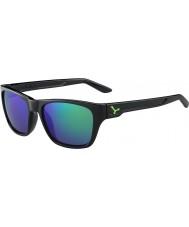 Cebe Hacker parlak siyah yeşil 1500 gri flaş ayna yeşil güneş gözlüğü