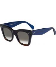 Celine Bayanlar 41090-s QLT z3 siyah havana mavi güneş gözlüğü cl