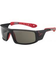 Cebe Buz 8000 mat siyah, kırmızı variochrom tepe güneş gözlüğü