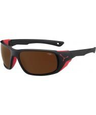 Cebe Büyük mat siyah, kırmızı, kahverengi 2000 flaş ayna güneş gözlüğü Jorasses