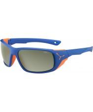 Cebe Büyük mat mavi turuncu variochrom tepe flaş ayna güneş gözlüğü Jorasses