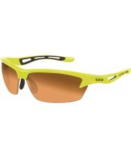 Bolle Bolt neon sarı modülatör kehribar güneş gözlüğü