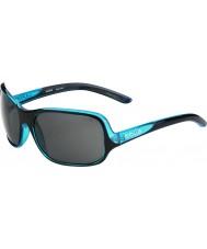 Bolle Kassia parlak mavi siyah polarize güneş gözlüğü tns