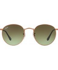 RayBan Rb3447 53 yuvarlak metal parlak orta bronz 9002a6 güneş gözlüğü