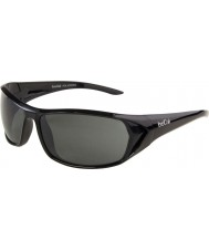 Bolle Blacktail parlak siyah polarize güneş gözlüğü tns
