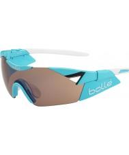 Bolle 6. His s parlak mavi modülatör silah güneş gözlüğü gül