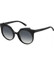 Marc Jacobs Bayanlar 105-s D28 9o parlak siyah güneş gözlüğü marc