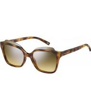 Marc Jacobs Bayanlar 106-s K36 gg havana gümüş ayna güneş gözlüğü marc