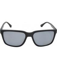 Emporio Armani Ea4047 56 Modern siyah kauçuk 506.381 polarize güneş gözlüğü