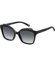Marc Jacobs Bayanlar 106-s D28 9o parlak siyah güneş gözlüğü marc