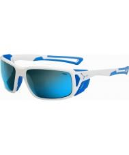 Cebe Proguide parlak beyaz, mavi 4000 gri maden mavi güneş gözlüğü