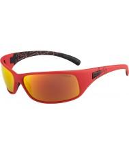 Bolle mat kırmızı polarize tns yangın güneş gözlüğü geri tepme
