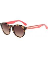 Fendi havana pembe güneş gözlüğü d8 Renk bloğu ff 0085-s hk3