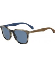 HUGO BOSS Erkek patron 0843-s IWF 9a boynuz kahverengi mavi güneş gözlüğü