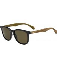 HUGO BOSS Erkek patron 0843-s RBG ec siyah kahverengi güneş gözlüğü