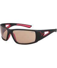 Cebe Oturum mat siyah, kırmızı variochrom perfo güneş gözlüğü