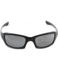 Oakley siyah iridyum polarize güneş gözlüğü - Oo9238-06 beşli cilalı siyah kare