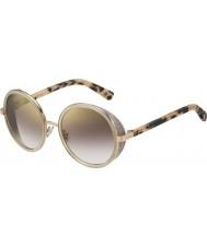 Jimmy Choo Bayanlar Andie-s j7a nh altın çıplak havana altın ayna güneş gözlüğü