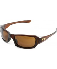 Oakley koyu bronz güneş gözlüğü - Oo9238-07 beşli cilalı rootbeer kare