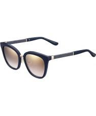 Jimmy Choo Bayanlar Fabry-s KKA nh mavi ışıltılı altın ayna güneş gözlüğü