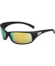 Bolle mat siyah polarize kahverengi zümrüt güneş gözlüğü geri tepme